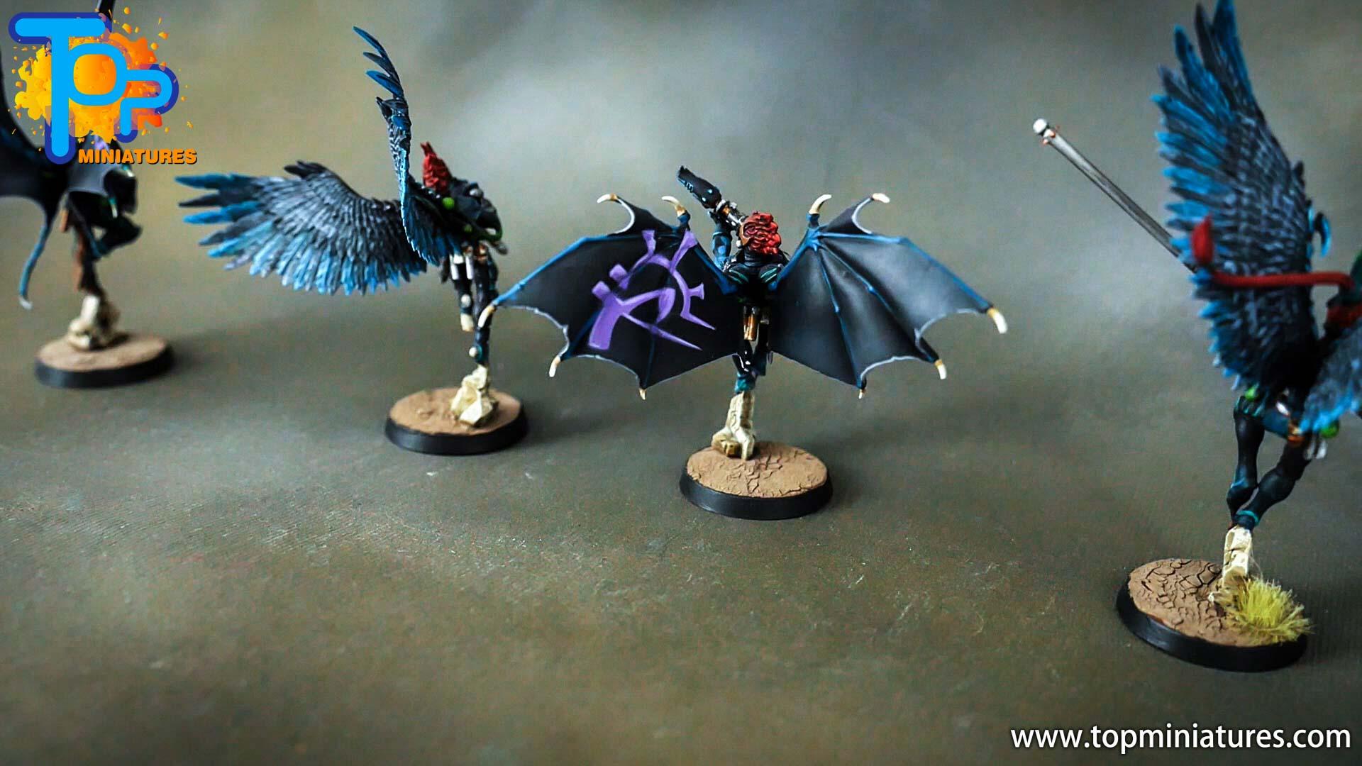 dark eldar drukhari painted scourges (12)