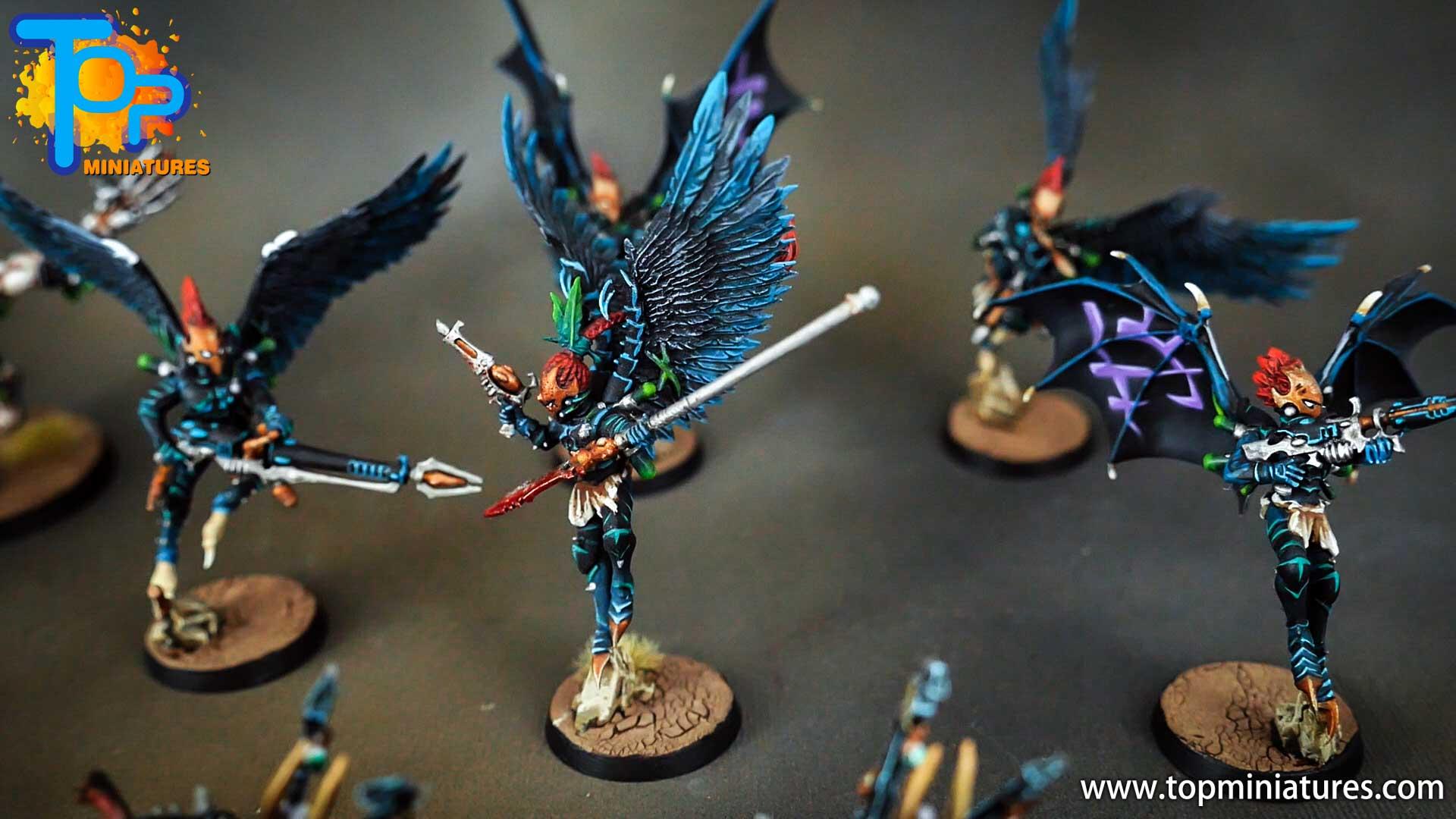 dark eldar drukhari painted scourges (2)