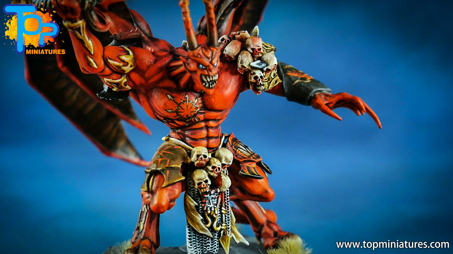 khorne daemon prince painted freehand (1)