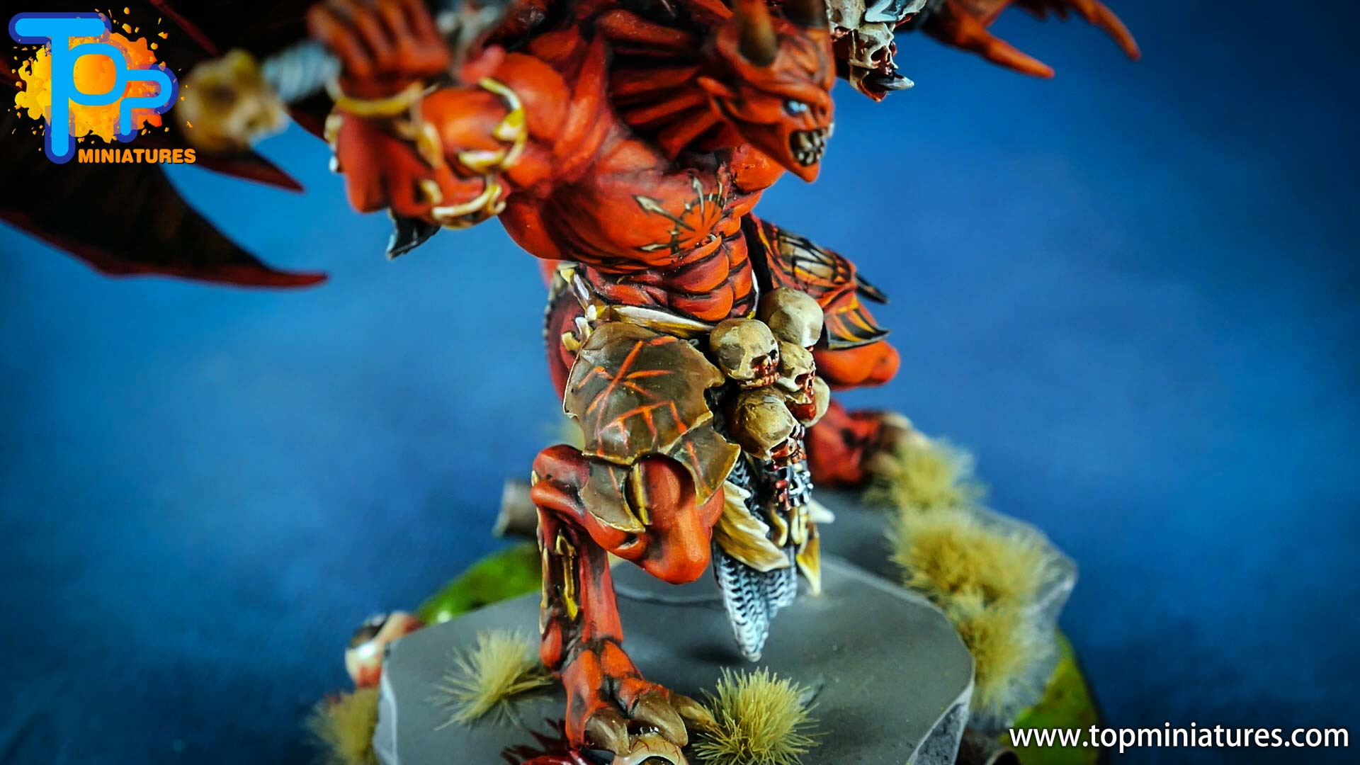 khorne daemon prince painted freehand (6)