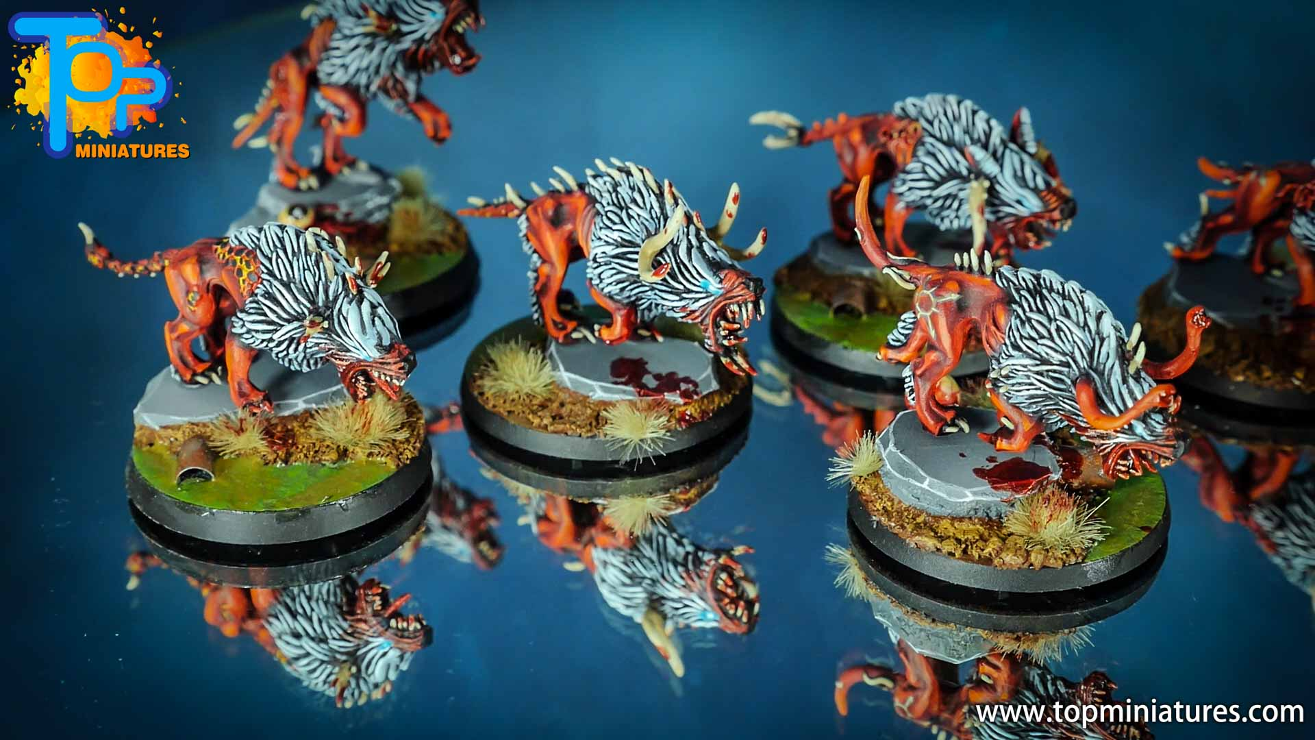 khorne daemons painted chaos warhounds (1)