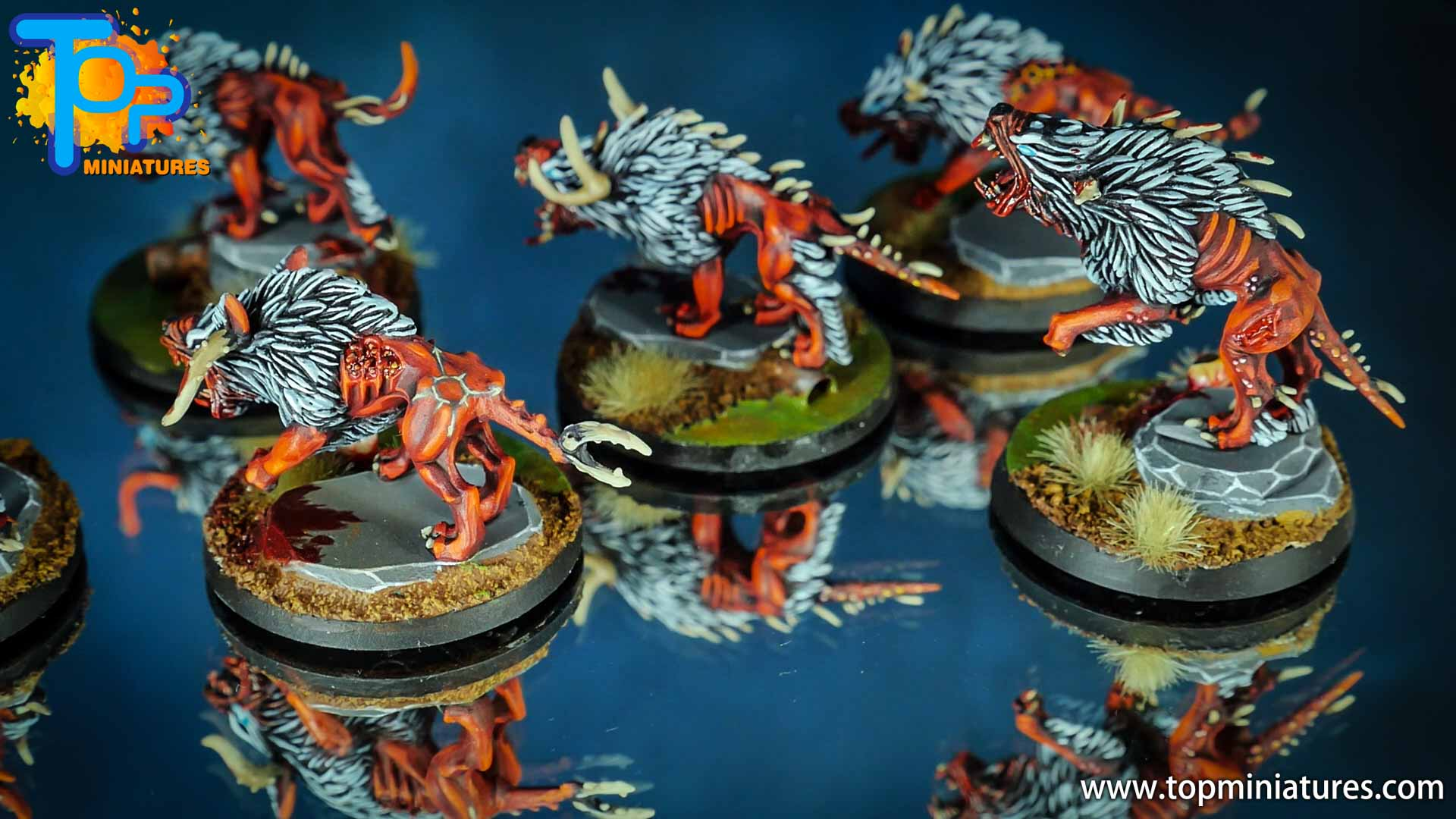khorne daemons painted chaos warhounds (2)