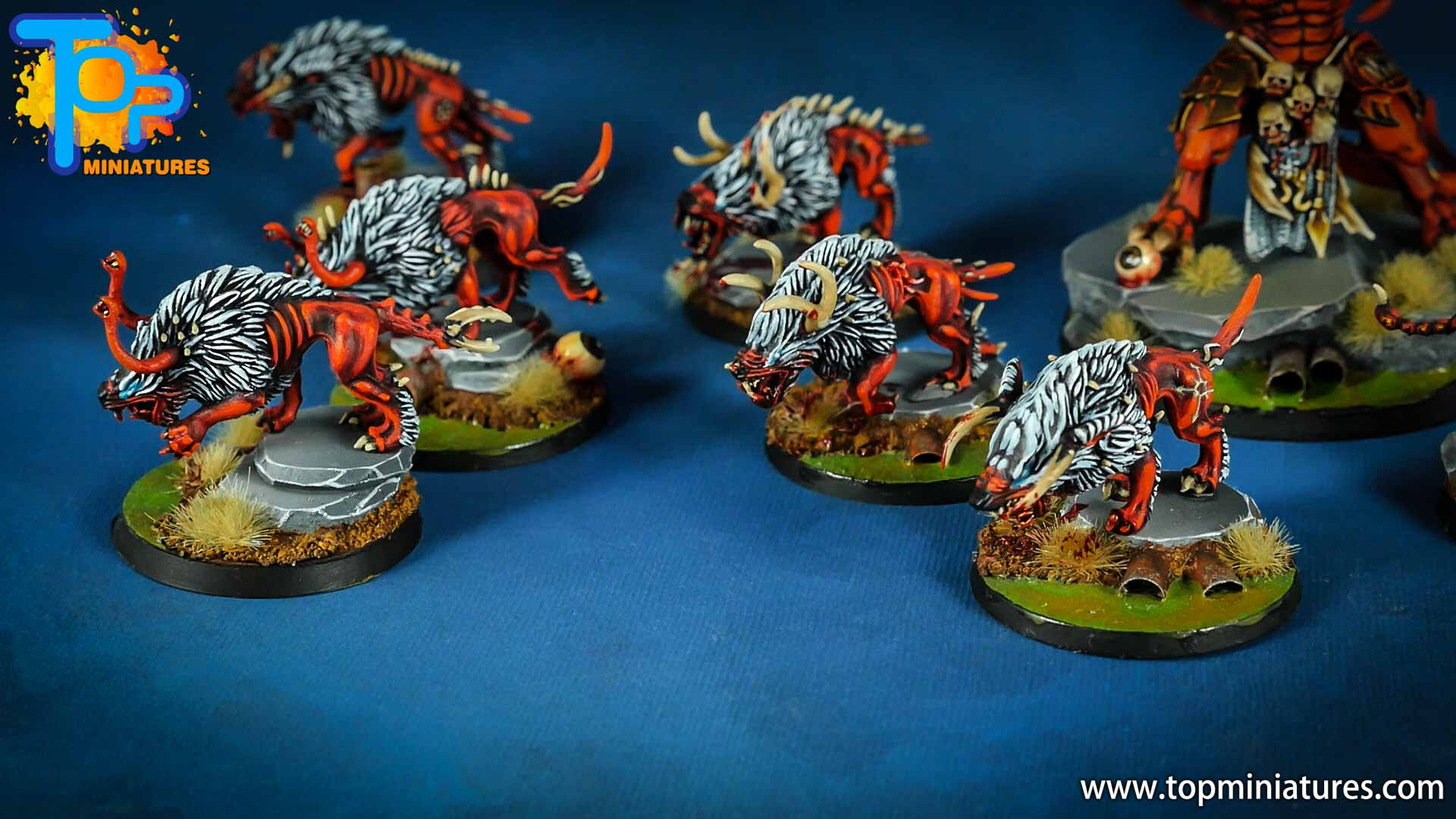 khorne daemons painted chaos warhounds (3)