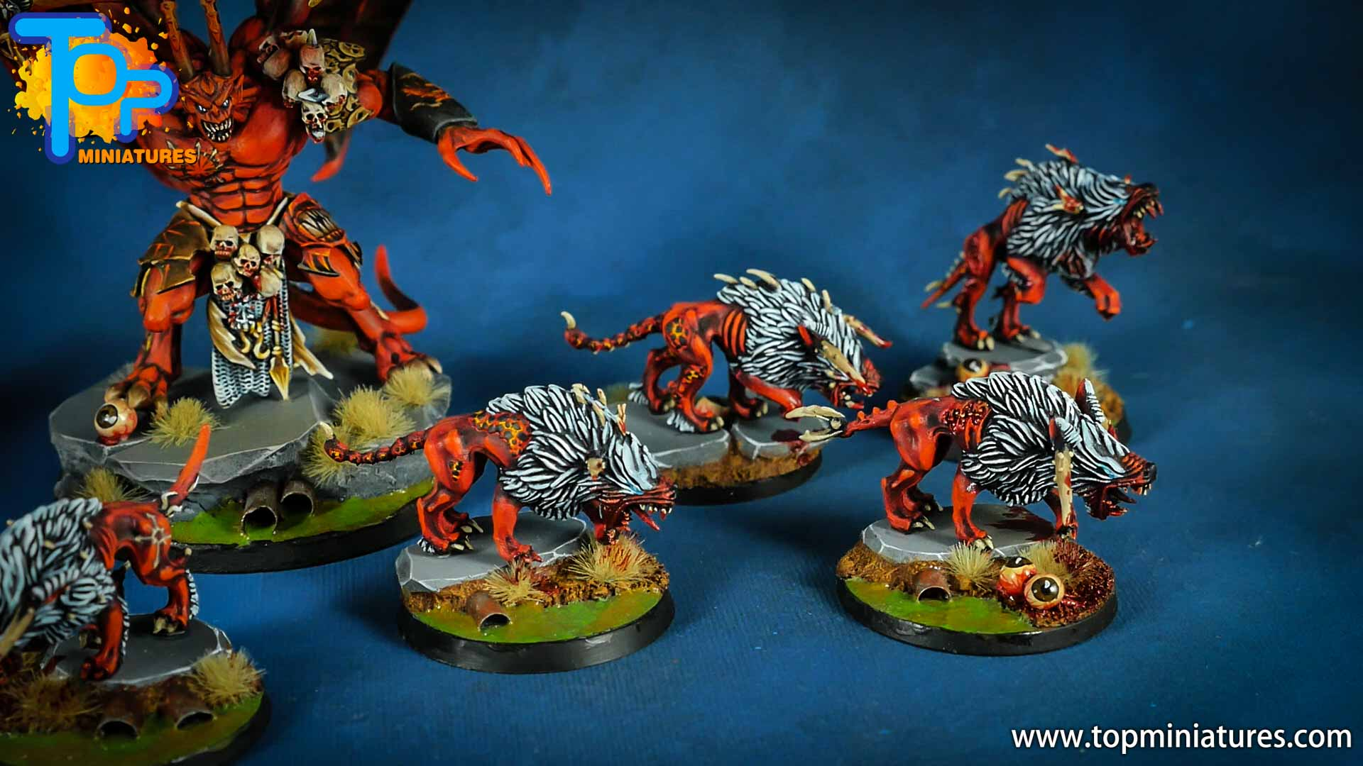 khorne daemons painted chaos warhounds (4)