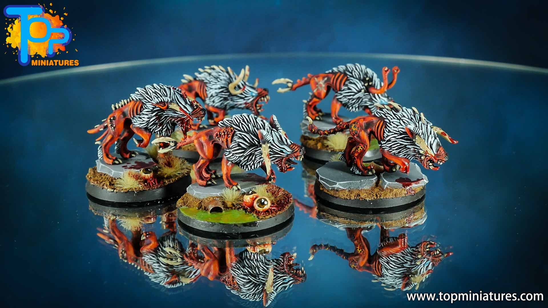 khorne daemons painted chaos warhounds (5)