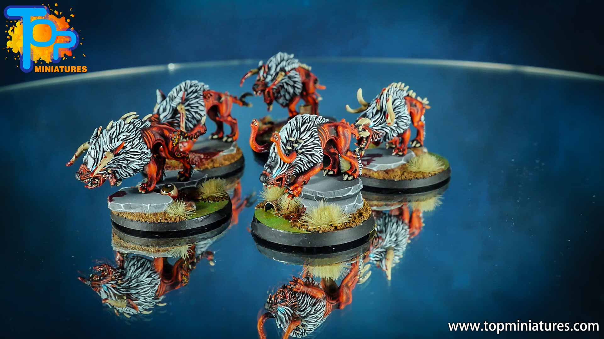 khorne daemons painted chaos warhounds (6)