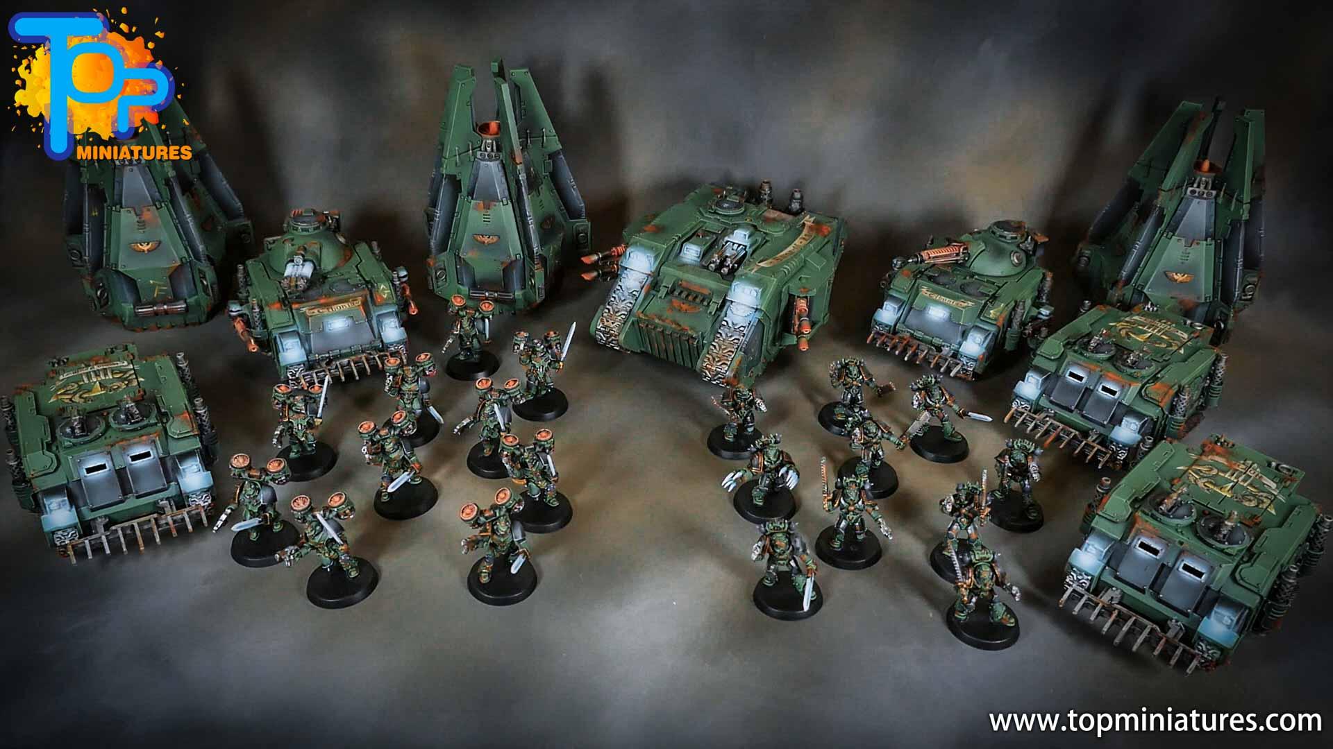 miniwargaming sons of horus painted army