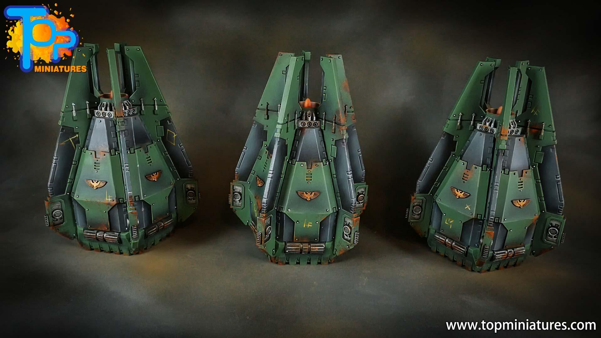 miniwargaming sons of horus painted drop pod (1)