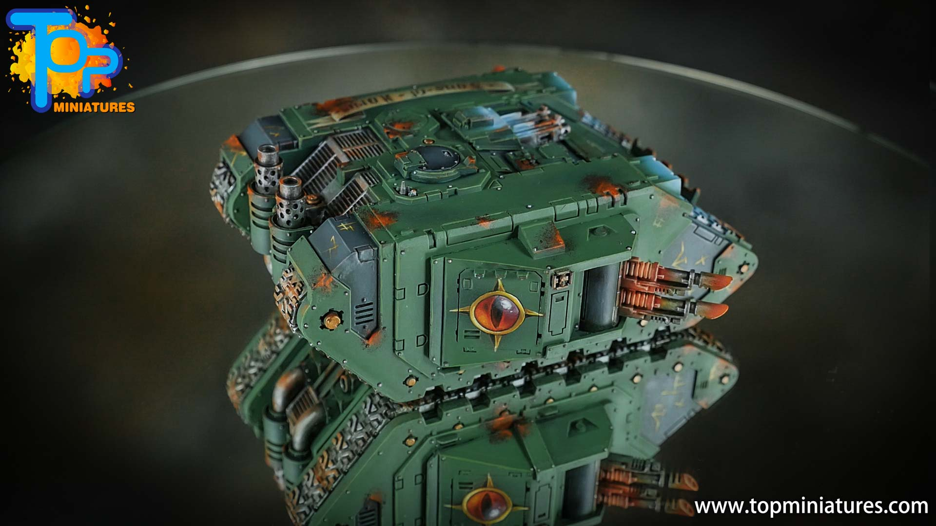 miniwargaming sons of horus painted land raider (1)