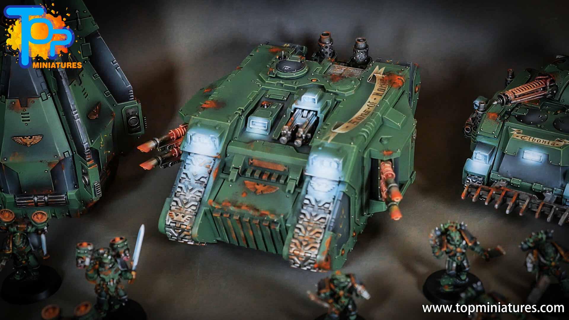 miniwargaming sons of horus painted land raider (2)