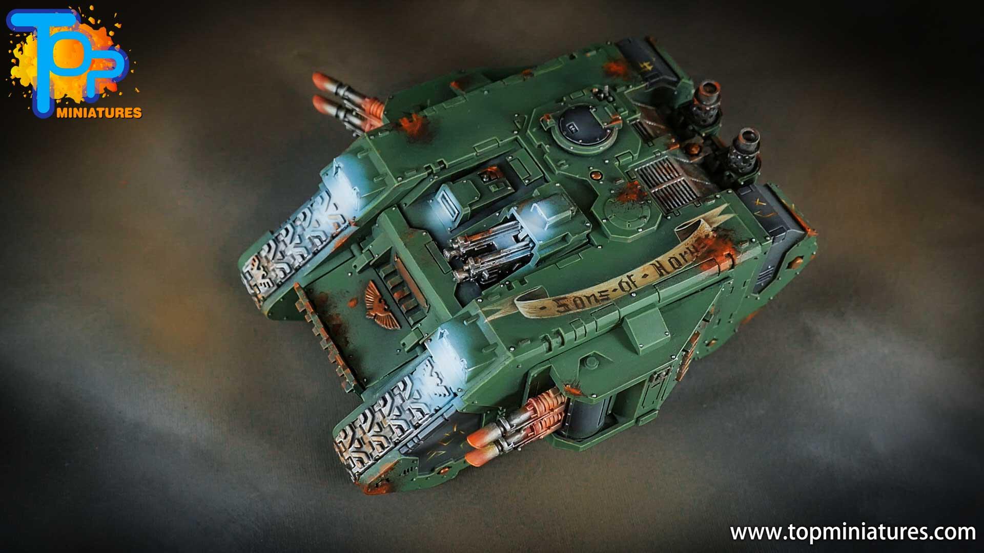 miniwargaming sons of horus painted land raider (3)