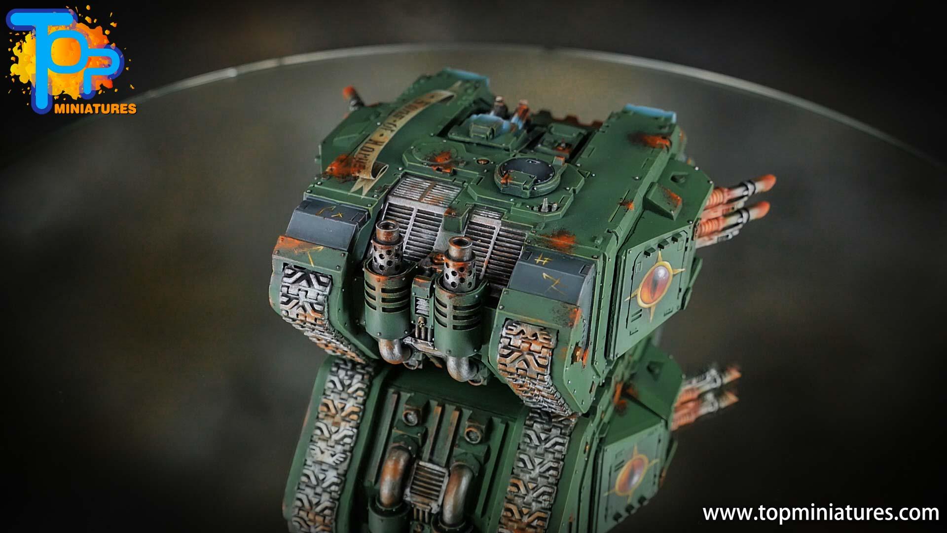 miniwargaming sons of horus painted land raider (6)