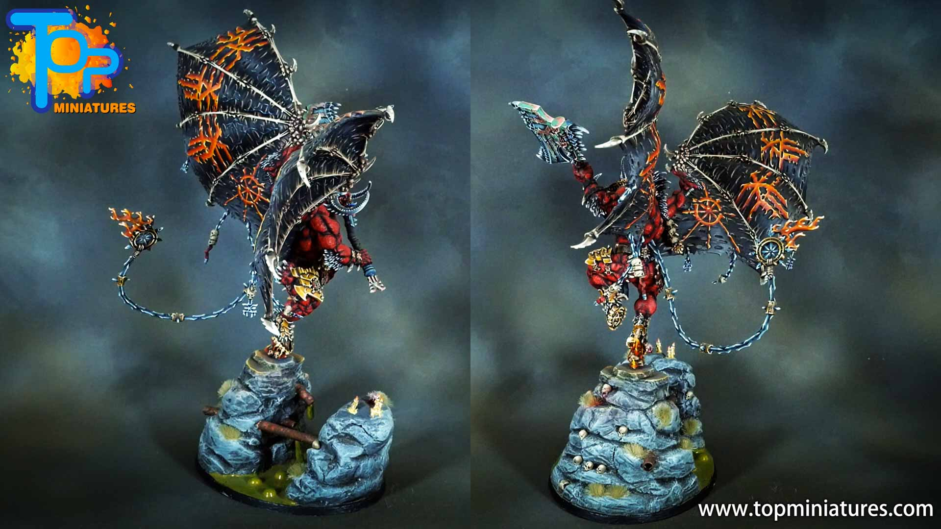 painted khorne bloodthirster (4)