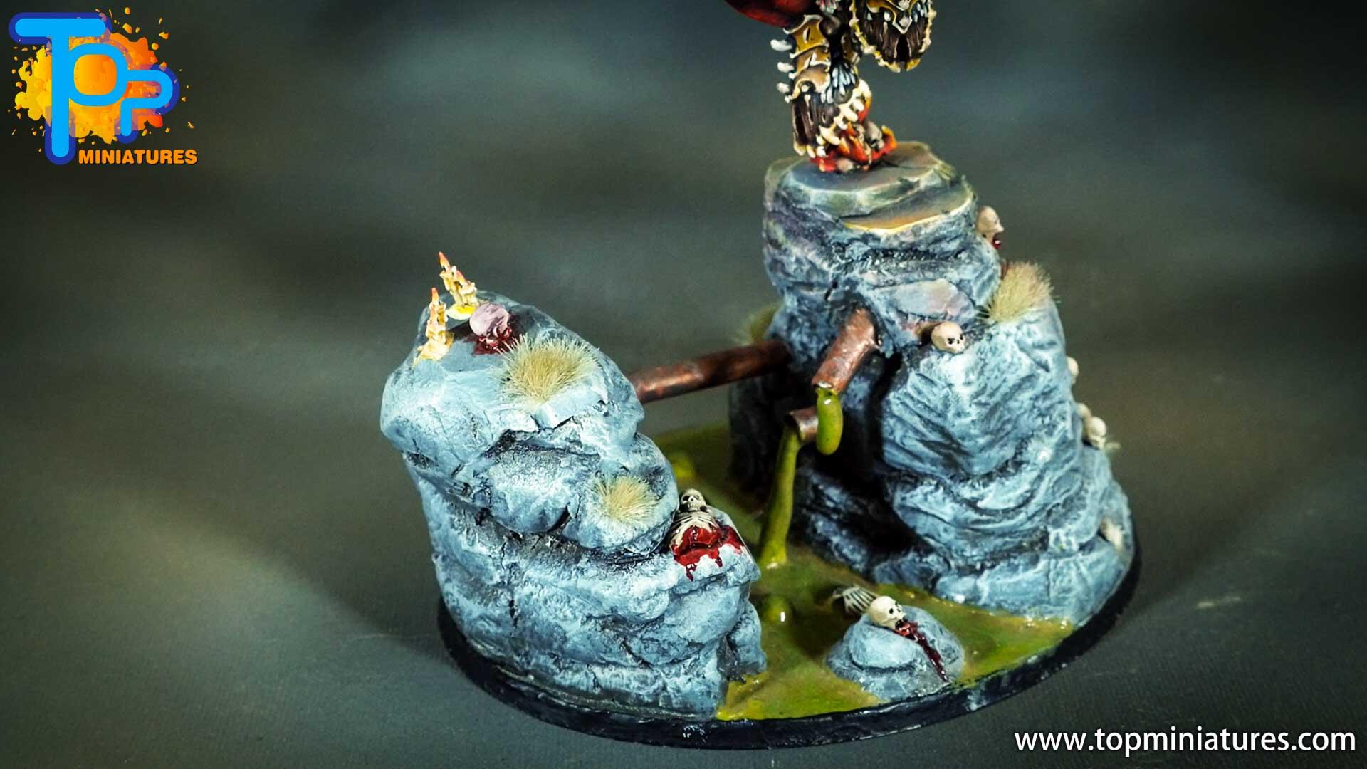 painted khorne bloodthirster base (1)