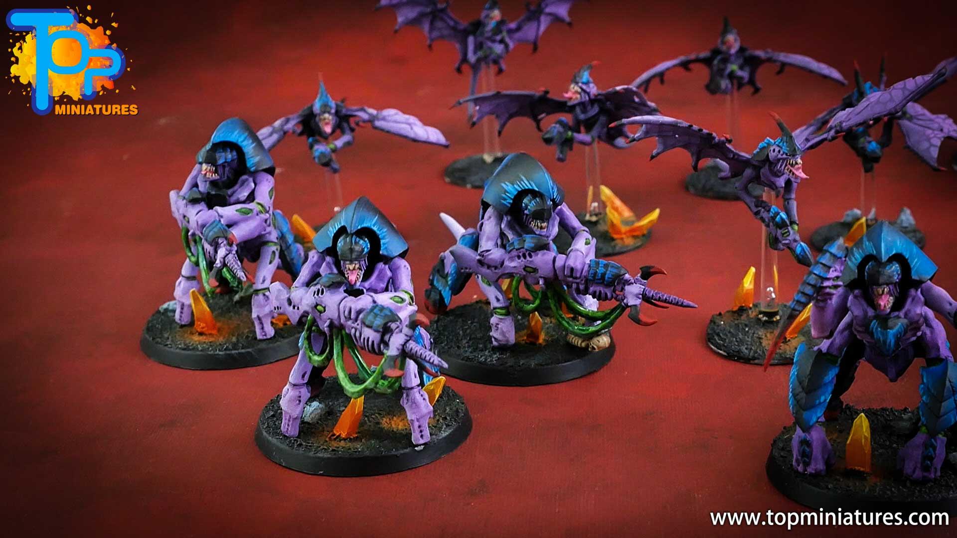 purple tyranids painted hive guard (2)