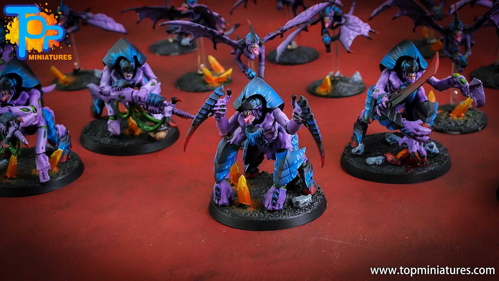 purple tyranids painted hive guard (3)