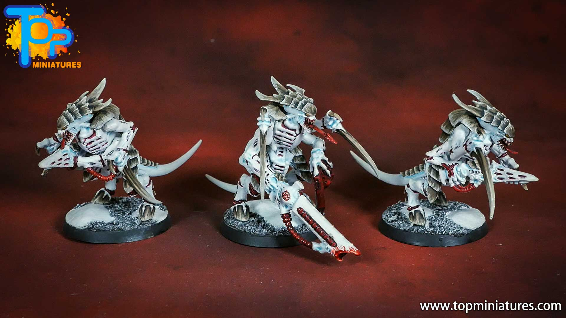 snow white painted tyranid warriors (2)