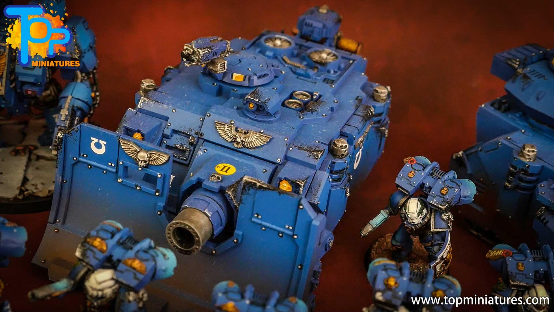 space marines ultramarines painted vindicator (1)