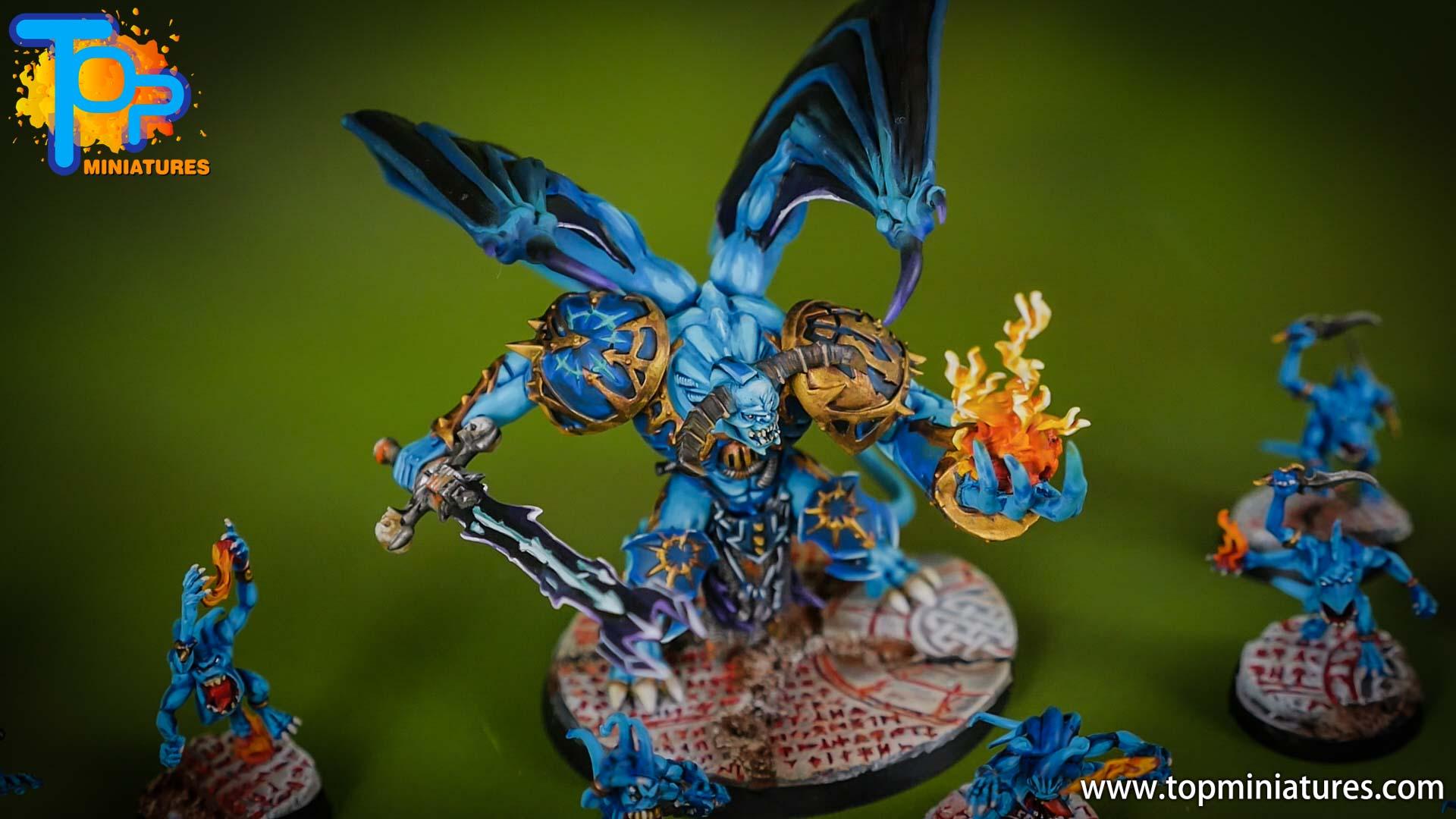 tzeentch painted daemon prince freehand (4)