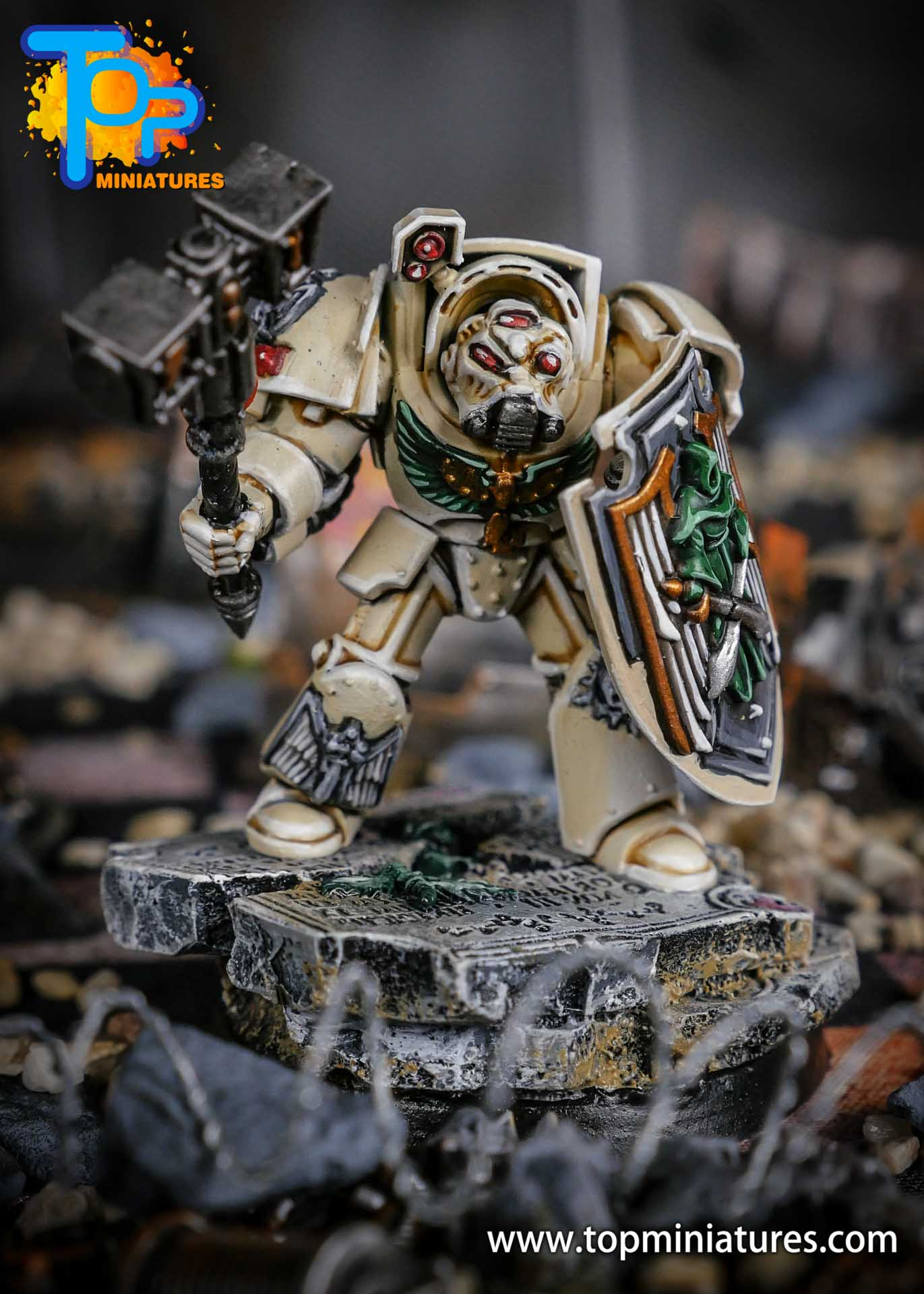 Dark Angels Deathwing terminator thunder hammer (1)