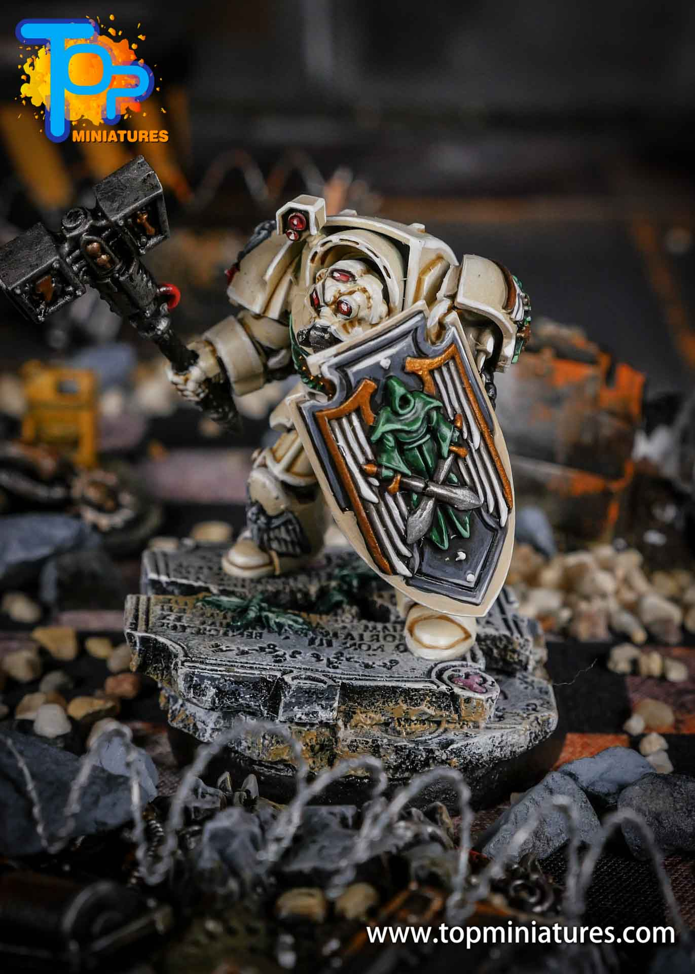 Dark Angels Deathwing terminator thunder hammer (2)
