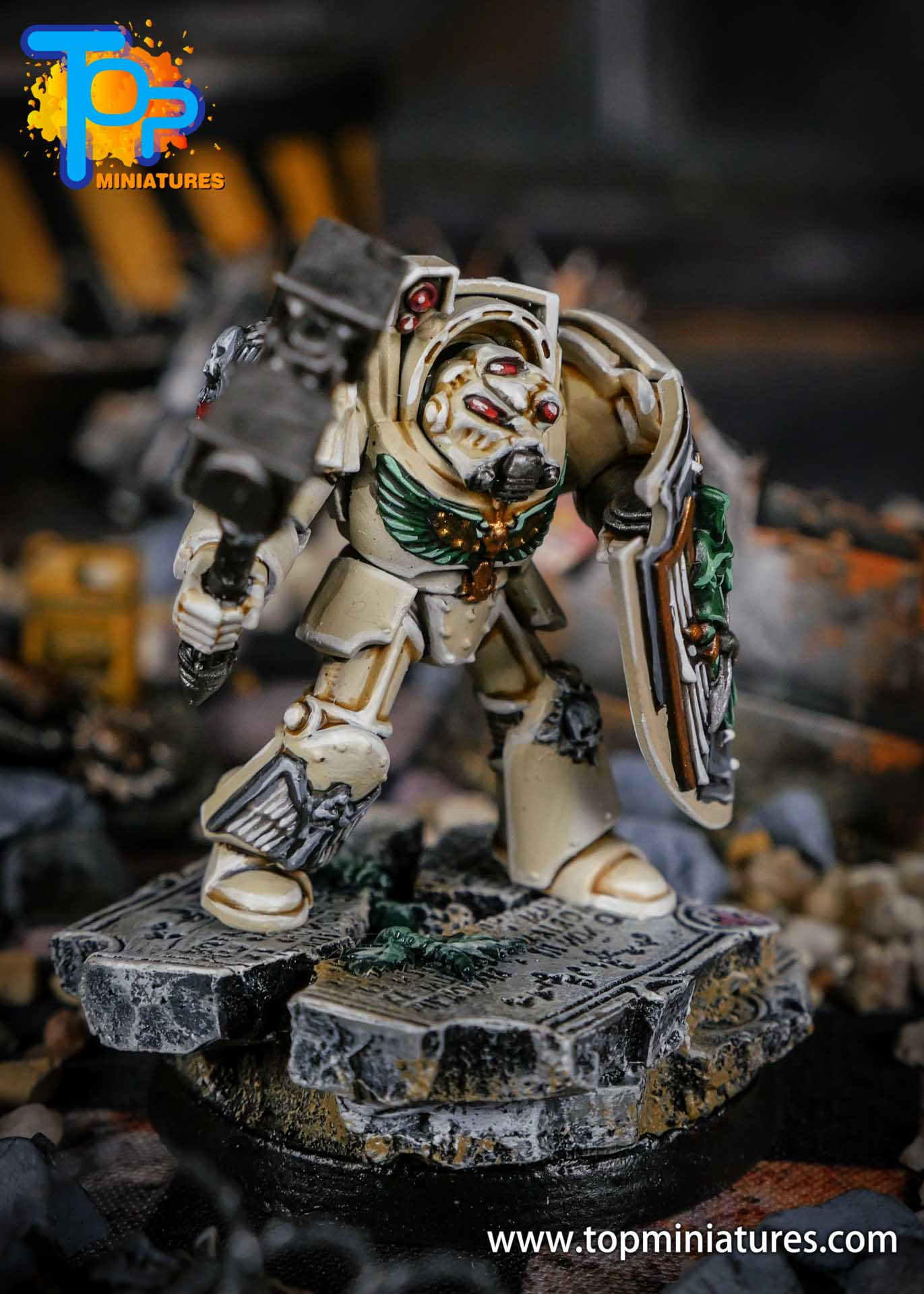 Dark Angels Deathwing terminator thunder hammer (3)