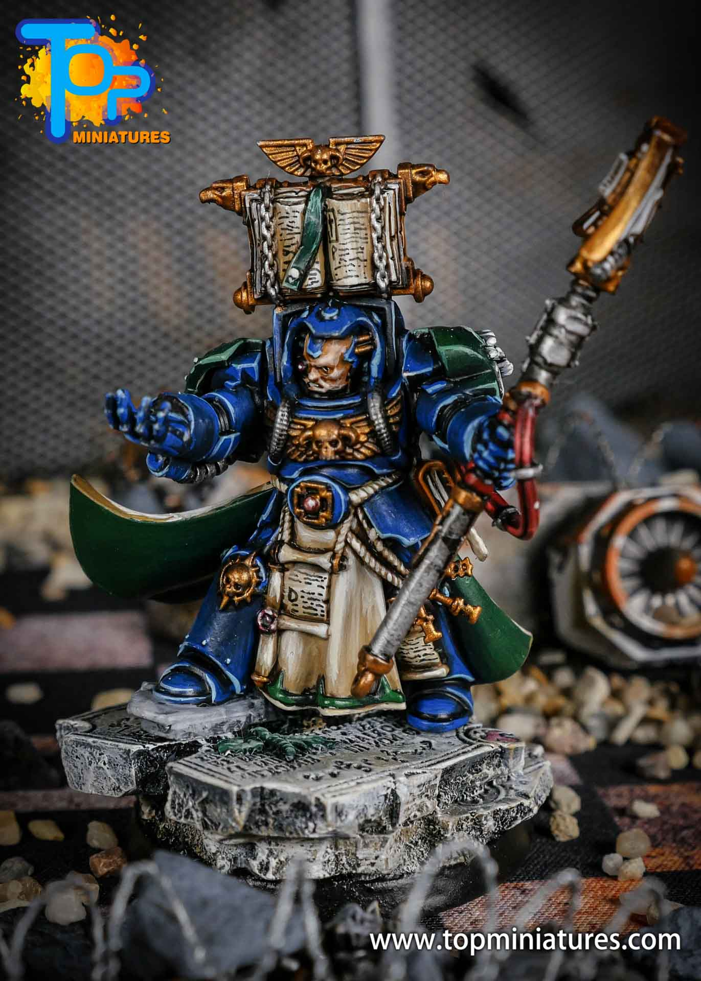 Dark Angels terminator Librarian painted (2)