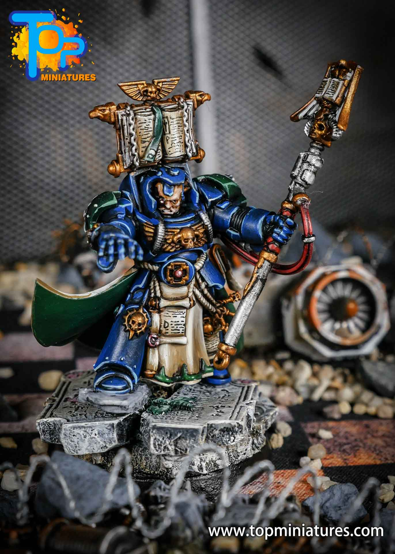 Dark Angels terminator Librarian painted (3)