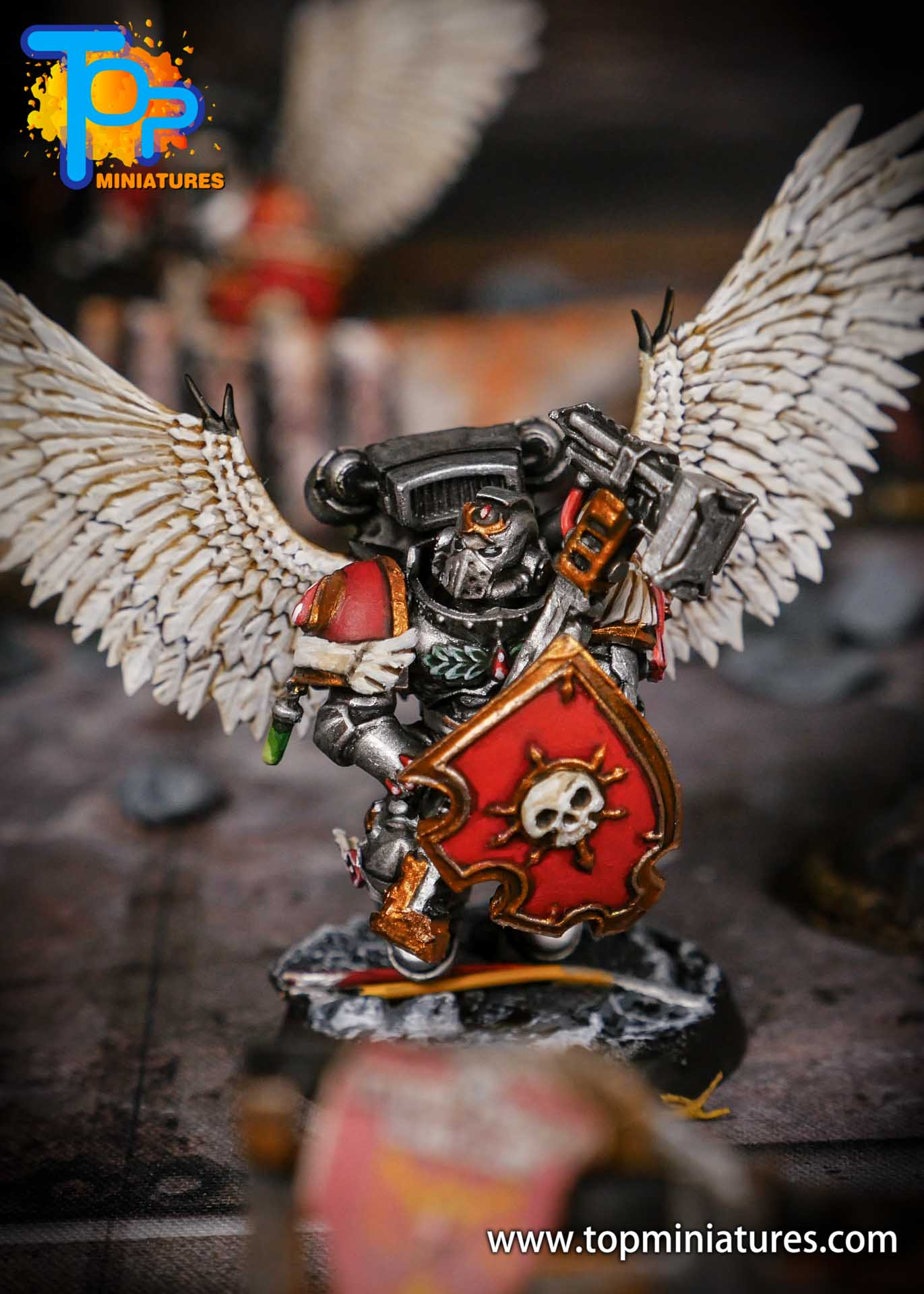 Blood Angels painted Sanguinary Guard (3)