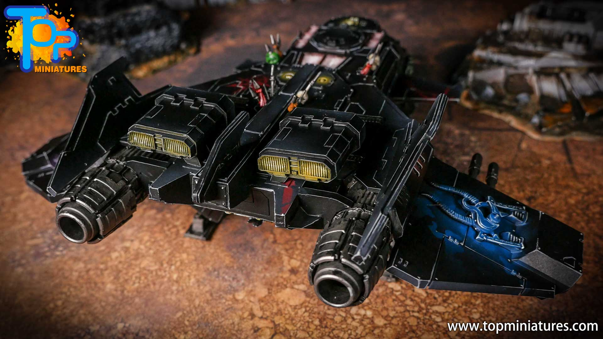 Converted Warhammer 40k Chaos Storm Eagle (22)
