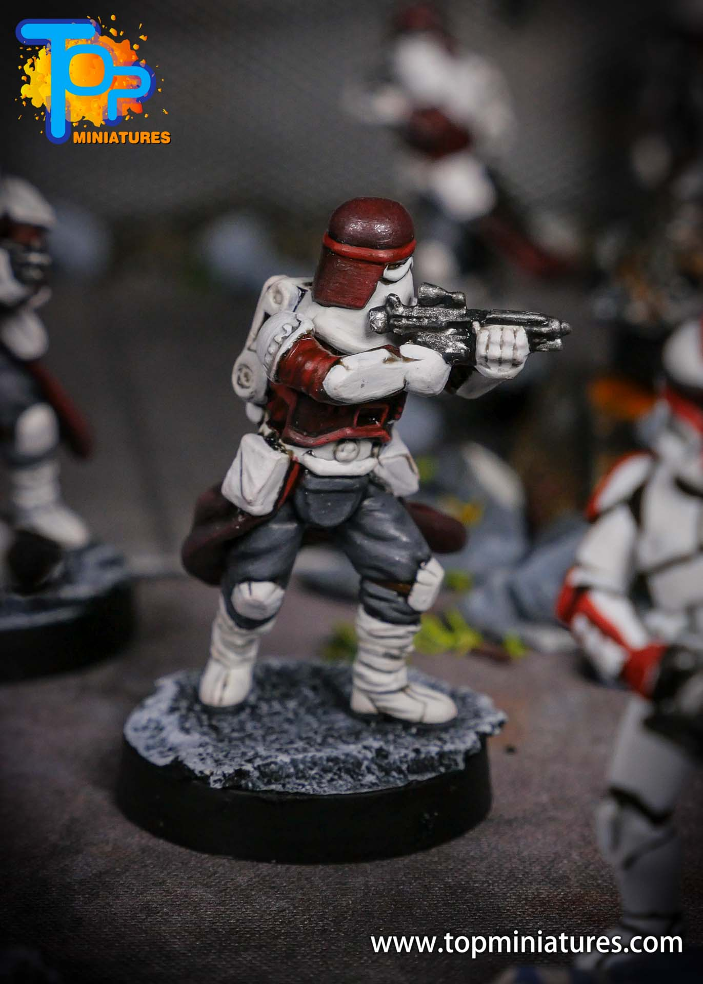 Star Wars Legion painted Snowtroopers (5)