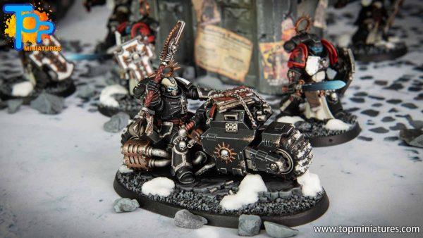 Black Templars Primaris Chaplain Bike (3)