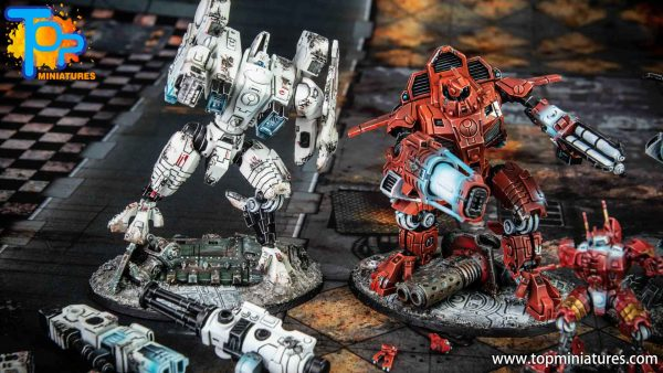 Tau Empire painted Battlesuits army (4)